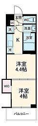 東急東横線 元住吉駅 徒歩13分の賃貸マンション 1階2Kの間取り