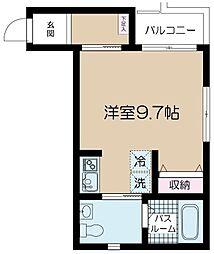 NSGATE富士見台A 1階ワンルームの間取り
