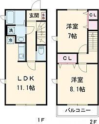 (仮称)ネクストK大泉学園 1階2LDKの間取り