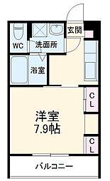 JR総武線 東船橋駅 徒歩4分の賃貸アパート 1階1Kの間取り
