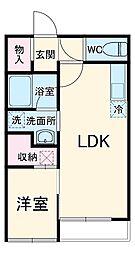 RAI 2階1LDKの間取り