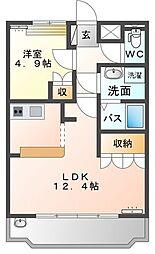 JR両毛線 小俣駅 徒歩16分の賃貸アパート 1階1LDKの間取り