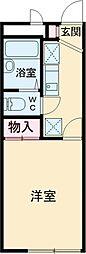JR中央線 立川駅 バス12分 多摩車検場下車 徒歩6分の賃貸アパート 2階1Kの間取り