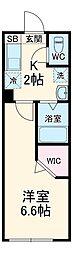 アドレスパーク武蔵小杉 3階1Kの間取り