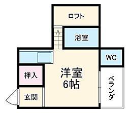 小泉アパートNo.7 1階1Kの間取り