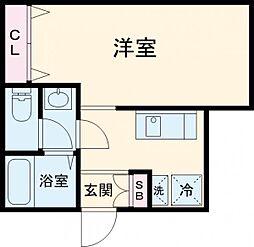 (仮称)赤塚2丁目新 1階1Kの間取り
