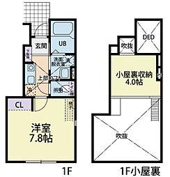東武越生線 武州長瀬駅 徒歩12分の賃貸アパート 1階1Kの間取り