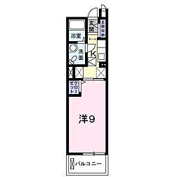 京成本線 京成臼井駅 徒歩6分の賃貸マンション 3階1Kの間取り