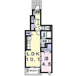 JR東海道本線 豊橋駅 バス26分 よろずぐち公園下車 徒歩2分の賃貸アパート 1階1LDKの間取り