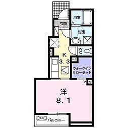 JR東海道本線 浜松駅 バス9分 天神町東下車 徒歩3分の賃貸アパート 1階1Kの間取り