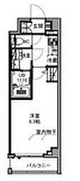 S−RESIDENCE王子east 7階1Kの間取り