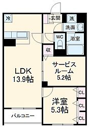 Adi I 1階1SLDKの間取り