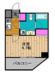 GENOVIA綾瀬skygarden 7階1Kの間取り