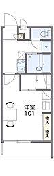 愛知高速東部丘陵線 杁ヶ池公園駅 バス12分 市ヶ洞下車 徒歩4分の賃貸マンション 1階1Kの間取り