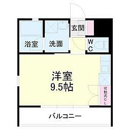 kibinosato 1階ワンルームの間取り