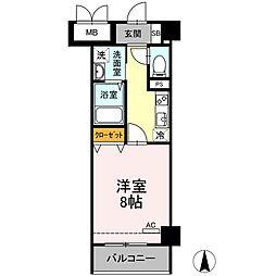 メゾン・ド・シルキー 2階1Kの間取り