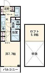 ブライズ世田谷桜 1階1Kの間取り