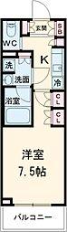 ブライズ世田谷桜 3階1Kの間取り