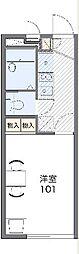 JR高崎線 北本駅 徒歩23分の賃貸アパート 1階1Kの間取り