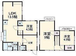 JR高崎線 北本駅 徒歩32分の賃貸一戸建て 1階3LDKの間取り
