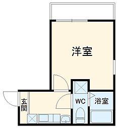 リブリス横浜橋 4階1Kの間取り