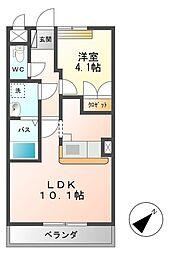 JR高崎線 本庄駅 徒歩34分の賃貸アパート 2階1LDKの間取り