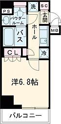 アーバネックス三田 8階1Kの間取り