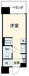 Hana House−Maejima 2階ワンルームの間取り