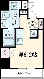 都営浅草線 戸越駅 徒歩6分の賃貸マンション 2階1Kの間取り
