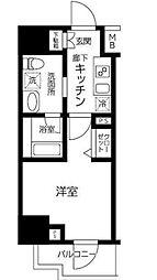 AXASレジデンス目黒東 4階1Kの間取り
