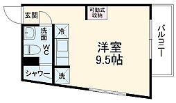 DAYBYDAY FUNABASHI 2階ワンルームの間取り