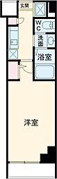 東急東横線 中目黒駅 徒歩5分の賃貸マンション 1階1Kの間取り