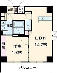東急池上線 旗の台駅 徒歩1分の賃貸マンション 1階1LDKの間取り