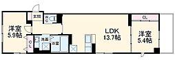 (仮称)麻生区百合丘1丁目project 4階2LDKの間取り