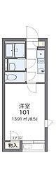 名古屋市営東山線 藤が丘駅 バス20分 竹の山北下車 徒歩3分の賃貸アパート 2階1Kの間取り