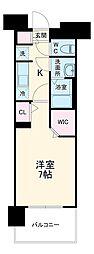 名古屋市営東山線 上社駅 徒歩3分の賃貸マンション 3階1Kの間取り