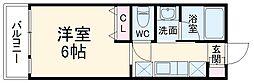 ABCヒルズ成田 3階1Kの間取り