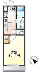 JR常磐線 土浦駅 3.5kmの賃貸アパート 1階1Kの間取り