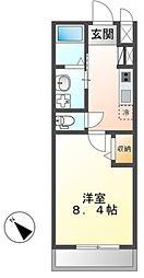 JR常磐線 土浦駅 3.5kmの賃貸アパート 2階1Kの間取り
