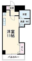 JR東海道本線 三河安城駅 徒歩4分の賃貸マンション 3階ワンルームの間取り
