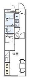 JR武蔵野線 東浦和駅 徒歩28分の賃貸アパート 1階1Kの間取り