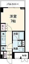 東急池上線 雪が谷大塚駅 徒歩5分の賃貸マンション 4階1Kの間取り