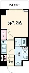 東急池上線 雪が谷大塚駅 徒歩5分の賃貸マンション 2階1Kの間取り