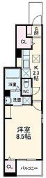小田急小田原線 鶴川駅 バス13分 金井クラブ下車 徒歩7分の賃貸アパート 1階1Kの間取り