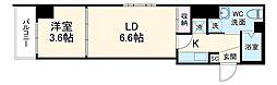 アクシーズタワー大門町 8階1LKの間取り