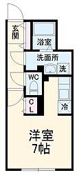 MTM東別院 2階ワンルームの間取り