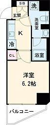 東急目黒線 西小山駅 徒歩10分の賃貸マンション 7階1Kの間取り