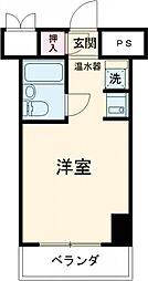 コンフォートI 5階ワンルームの間取り