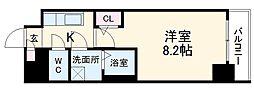 エスリード新栄プライム 13階1Kの間取り