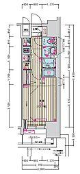 名古屋市営名城線 東別院駅 徒歩2分の賃貸マンション 13階1Kの間取り